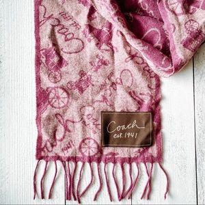 COACH reversal wool & cashmere scarf